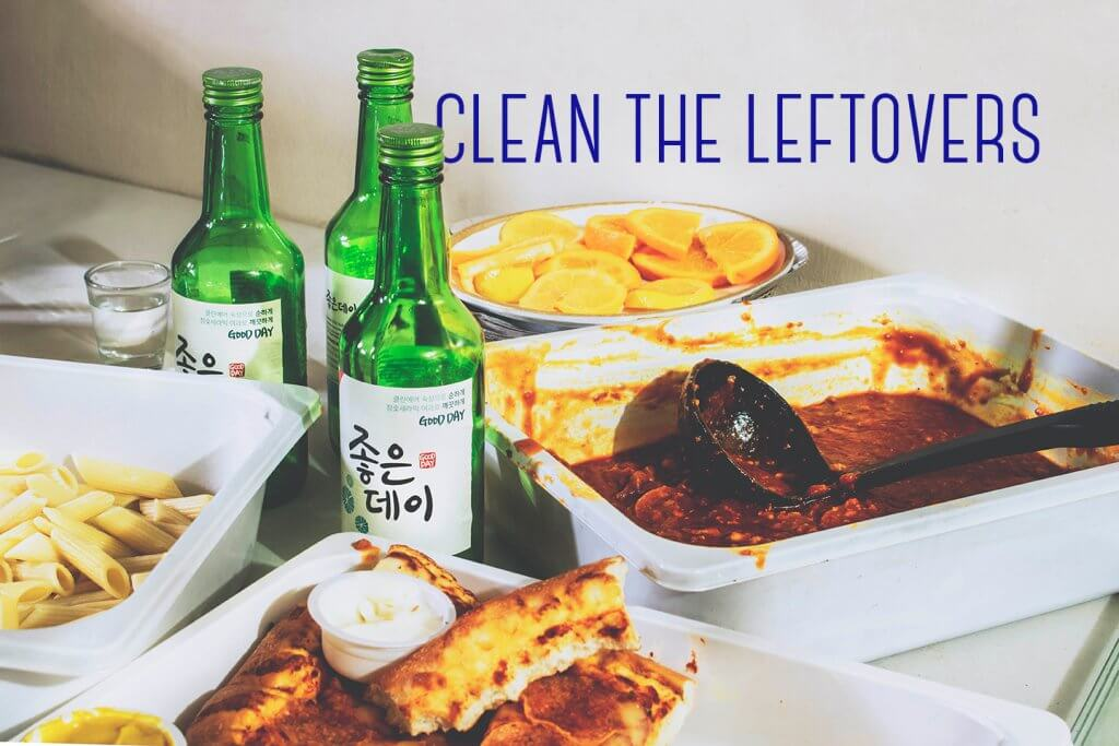 clean the leftovers